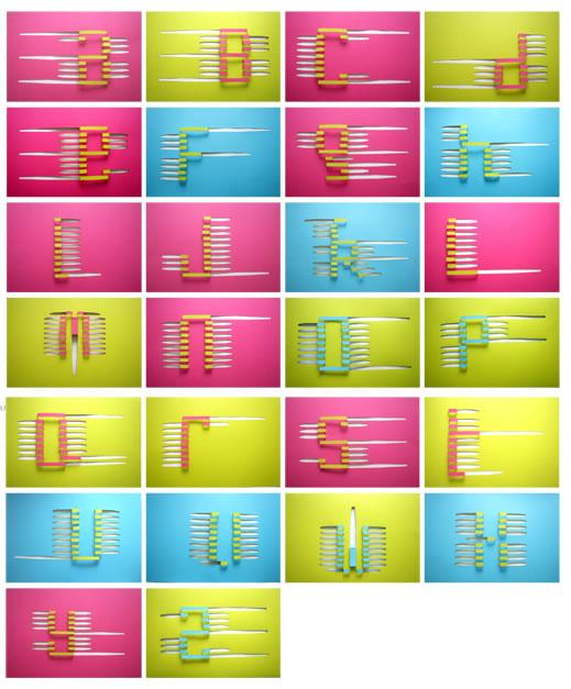 设计/英文字母的艺术设计效果